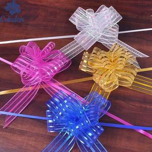 Горячий 5шт Продажи / серия Высокого качества DIY пряжа тянуть лук галстук 11 Цвет можно выбрать на Рождество Обертывания DIY украшения рождественской елки