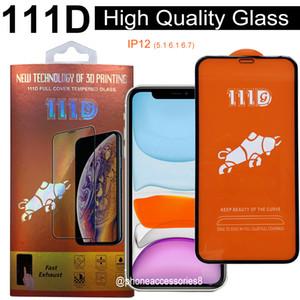 111D Verre trempé de la couverture complète de haute qualité pour iPhone 12 Mini Pro Max Iphone 11 PRO Max XS XS 7 8 6 Protecteur d'écran avec boîte de vente au détail