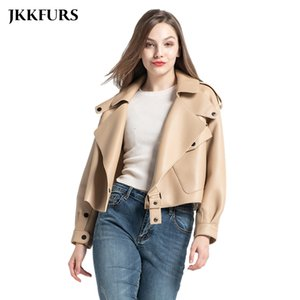 9 Colors Women's Genuine Leather Jacket New Fashion Real Leather Coat Lady Autumn Winter Sheepskin Leather S7547 201020