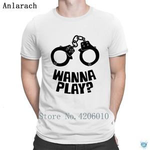 Queira jogar algemas Família t-shirt Top Quality Redonda Men Collar T-shirt Criatura Anlarach New Leisure T Tops