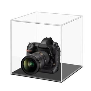 Grande 24x24x24cm Acrilico trasparente fotocamera display copertura in plexiglass caso di esposizione controsoffitto Box