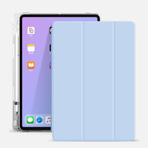 With Pen Holder Case for Ipad 10.9 Inch 2020 10.2 2019 PU+TPU Smart Cover Multi-Function Drop Protection PDA Sleeve