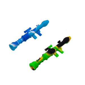 Tubo del silicone Nettare Collezionisti Mini Tubi dell'acqua Nettare con il Titanium Nail 10mm Concentrato DAB Straw Stilicone in silicone