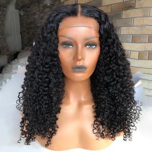 Kinky Kıvırcık Peruk 13x6 Dantel Ön İnsan Saç Peruk Öncesi Mızraplı Remy Brezilyalı Saç 180 Yoğunluk İpek Üst Dantel Frontal Peruk
