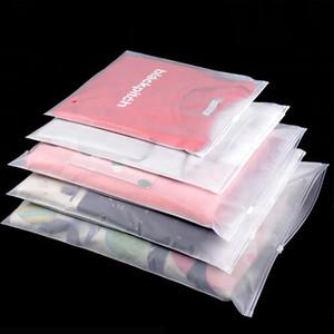 50шт высокого класса толстого пластик сумка для хранения Matte Clear Zipper печать дорожных сумок Zip замок клапан Уплотнительной Упаковкой мешок Cosmetic одежды