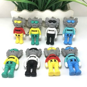 11.11 Sale at a low price 3D stereo PVC keychain KAWS Sesame Street Joint Doll Cartoon Pendant Action figures