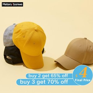 Metersbonwe Baseball New Spring Couples Cap Male Female Cap Personality Trend Letter Printing Hip Pop Caps Streetwear Cap 201021