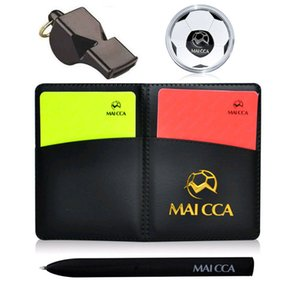 Football post referee corner football card pen notebook wallet combination training fair game throwing professional sports equipment