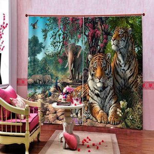 3d photo custom Curtains Forest animal Tiger Curtain Creative Home Interior Drapes For Bedroom Living Room1