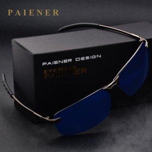 Male anti-uv 400 polarized sunglasses car driver mirror sun glasses Aluminum frame men cool fishing glasses fashion male eyewear