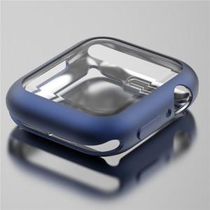 Elma İzle Vaka 40mm 44mm 38mm 42mm Series 5 4 3 2 1 Koruyucu Kapak Kılıf Tampon İçin iWatch Shell için TPU Çerçeve Kılıf mat metal renkler