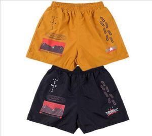 Erkek Şort Travis Scott Kaktüs Jack Yolları Yolu Şort Rap Rahat Spor Şort Fitness Yüksek Sokak Tarzı Yaz Pantolon Elastik Bel