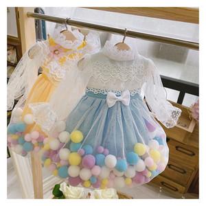 Vestido BJD + Vestido de boneca de faixa de cabelo com bolas de cabelo 4 cores para 1/3 1/4 1/6 BJD SD DD 1/6 BLYth Doll Drink Doll Acessórios Y0112