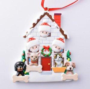 عيد الميلاد زخرفة شخصية الناجي الأسرة الراتنج زينة ملثمون DIY شجرة عيد الميلاد الشنق هدية قلادة KKB2813