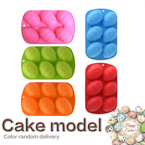 US Stock Easter Egg Silicone Baking Moulds 6 Cavity Tray Mold Dessert Silicone Cake Chocolate Baking Molds Silicone Bakeware Accessories