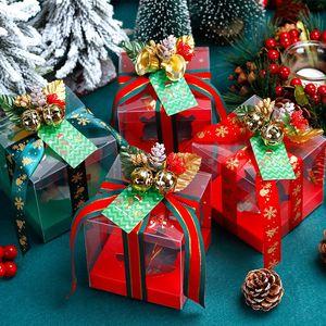 Christmas transparent apple box PVC Christmas gift candy gift box Christmas Eve fruit