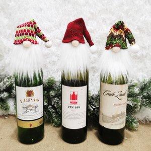 Hotel Restaurant Family Natal Pendant Faceless boneca Wine Bottle Capa Christmases Árvores Ornamentos New Arrival 1 9gm J2