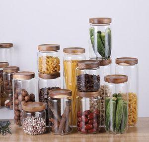 Caixa de armazenamento de alimentos de vidro, tanque de grão seco recipiente de plástico transparente com tampas de cozinha, BBYQGU SPORT77777