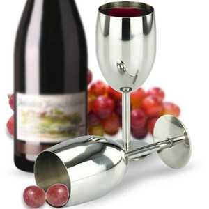 Food Grade Stainless Steel Wine Glass Drinking Cup Champagne Goblet Barware Kitchen Bar Tools Party Supplies