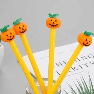 New Halloween Pumpkin Gel Pens 0.5mm Novelty Stationery Kawaii Pen Student Cute Writing Pen KKF2017