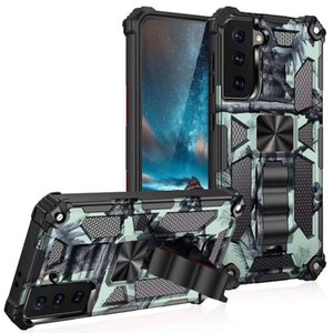 Camouflage Armor Bracket Phone Case ,For iphone 12 Mini 11 Pro Max XR XS X 8 7 Plus SE 2020 Shockproof Anti-fall Car Phone Holder Cover