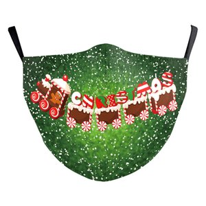 Hot sale Newest Christmas Mask PM2.5 Adults Halloween comfortable The stars shine cotton cloth Dustproof 3D Printing Washable Dust Masks