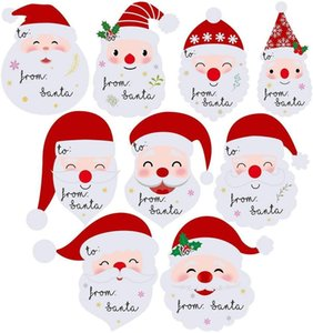 9 Pieces Set New Design Tags From Santa Claus Christmas Gifts Name Tags Stickers Factory Wholesale