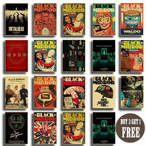 BBC небольшой пьеса Черного зеркала для Creative ретро плакат крафт бумаги дома декор комнаты Art напечатаны произведениями искусства старинного плаката стена наклейка gHUP #
