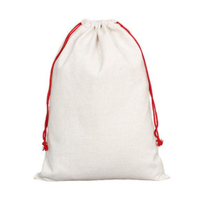 Sublimation DIY Blank Cotton Linen Large Style Drawstring Backpack Bag for Heat Transfer Printings