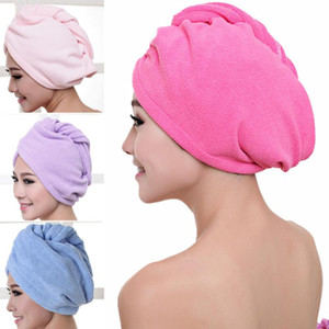 Cheveux Turban Serviette Femmes de Super Absorbent Douche Cap séchage rapide serviette microfibre cheveux secs Salle de bain cheveux Cap Coton 60 * 25cm EWC1447