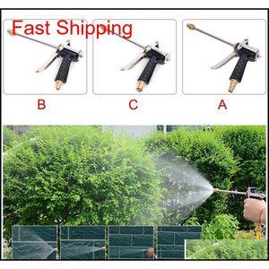 High Pressure Sprayer Metal Water Hose Spray Nozzle For Car Washing Lawn Watering Garden Irrigation H99F P7Mjh