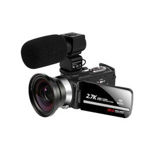 Videokamera WiFi 2 .7 K Vlogging-Camcorder für den lenkenden Touchscreen 30MP 16x Digitalzoom Handycam-Kamera-Recorder Noise-Cancel-Mic