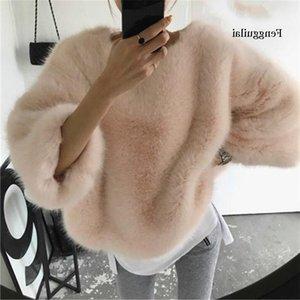 Fengguilai Katı Moda Kazaklar Gevşek Yün Sıcak Kış Giyim O-Boyun Zarif Kadın Kazaklar sueter mujer invierno