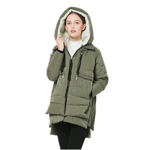 Veste d'hiver Manteau Femmes longues matelassées à capuche à capuche à capuche chaudes veste chaudes femmes hiver 2020 Down féminin plus taille 5xl orolay