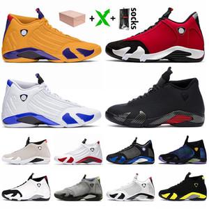 Con la scatola 2020 Jumpman 14 14s Mens Basketball Shoes SatinGiordaniaRetro Università Gold Gym Red Hyper Reale Bred Sneaker Sneakers