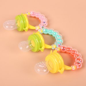 DHL Free Shipping Hot Sale Rattle Silicone Baby Fresh Food Fruit Feeder Pacifier Baby Fruit Feeder