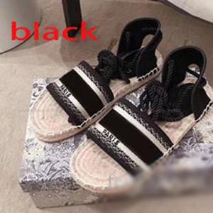 Dior shoes 2021 progettista منصة عارضة الصنادل الصيف الأزياء الأبجدية صياد الأحذية lusso امرأة الأحذية القنب حبل العشب المنسوجة baotou الصنادل حجم