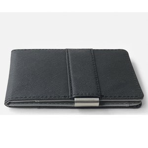 European and American hot selling Korean cross men's money clip stainless steel credit card certificate bag