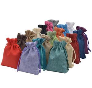 Beam Hessian Coffee Burlap For Handmade Bags Wedding Favor Packaging Sack Christmas Jewelry Gift Soap Jute 100pcs Drawstring jllvF
