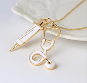 2021 Hot selling video peripherals Doctor Who Syringe Stethoscope Necklace zj-1762