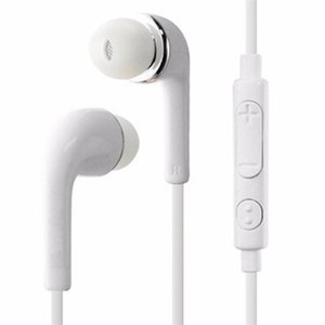 DHL J5 Headphones In-Ear Earphone with Mic and Remote Stereo 3.5mm Headset for Samsung Galaxy S7 S6 S5 S4 S8 S9 F-EM