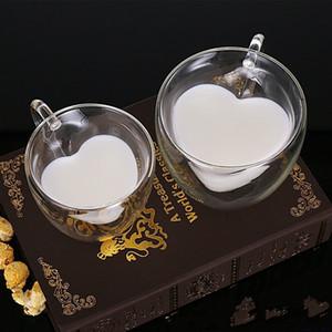 Cam Çift Deck Çay Bardağı Süt Kahve Aşk Kalp İçecekler Tumbers Su Isı Sap Kişilik Mug Best Sellers 7 5am2 F2 ile direnen