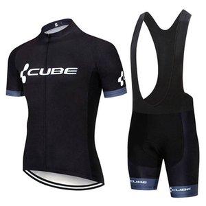 New Men Cube Team задействуя Джерси костюм с коротким рукавом велосипед рубашка Биб шорты Комплект Summer Quick Dry Эпикировка велосипедов Спорт Uniform Y20042401