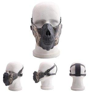 Tactical Style Maschera LJJA5770 confortevole Fronte mezzo di protezione regolabili Maschere Mezza pieghevoli tattico stile maschera facciale LJJA5770 Com dell'EUTL