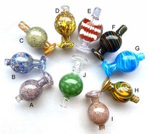 2020 Color Bubble Carb Mütze Ball Glass Caps Quartz Banger Nägel für Schrägkante Cyclone Spinning Carb Caps Glasbongs Rohr Dab Rigs