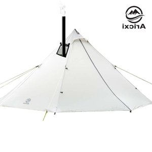 3-4 Personne ultra-légère Camping en plein air TeePee 20D Silnylon Pyramide Grande Tente sans tige Sac à dos Randonnée Tentes