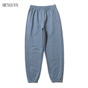 NAGRI New Hip Hop Kanye West Season6 Pants Skateboards CALABASAS Sweatpants Men Cotton Thick Beam Cargo Harem Pant Men Cloth Y1114