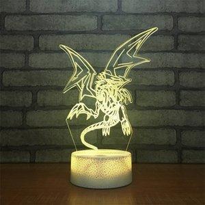 factoryONZIGi О Голубоглазый Белый Дракон 3D Таблица Ю. управления Lamp сенсорный 7 цветов Изменение Акриловая Night Light USB Decorat