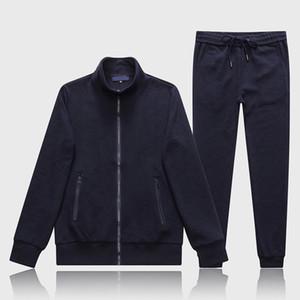 2020 nuevos diseñadores chándalsuits para hombre ropa deportiva europea imprimida manga larga cremallera ropa deportiva otoño invierno nuevo bordado algodón yo