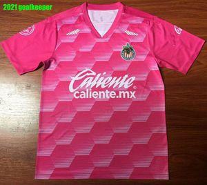 20 21 Chivas goalkeeper de Guadalajara Soccer Jersey A. PULIDO LOPEZ Goalkeeper Football Shirt Camisetas de fútbol Short Sleeve Uniforms